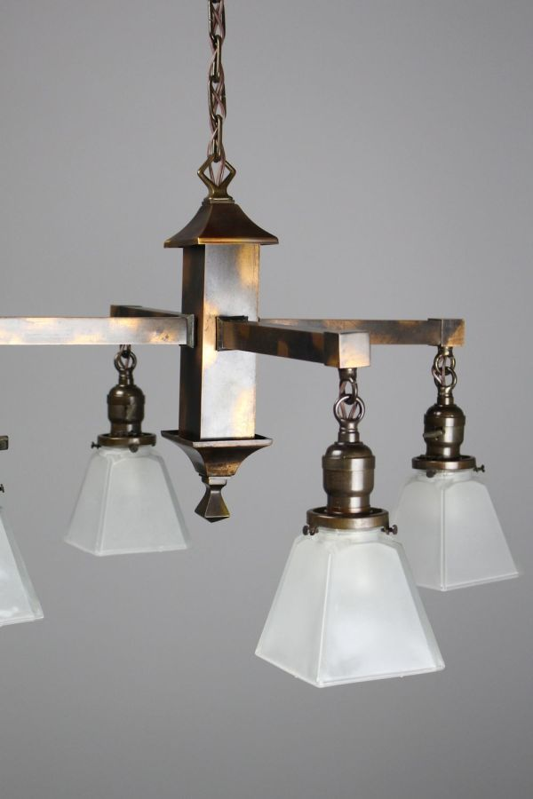 Mission Fixture 4-light With Japanned Finish