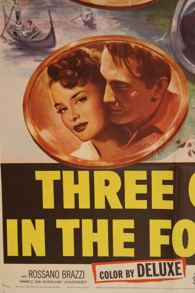 Three Coins in the Fountain Movie Poster  Set of Lobby