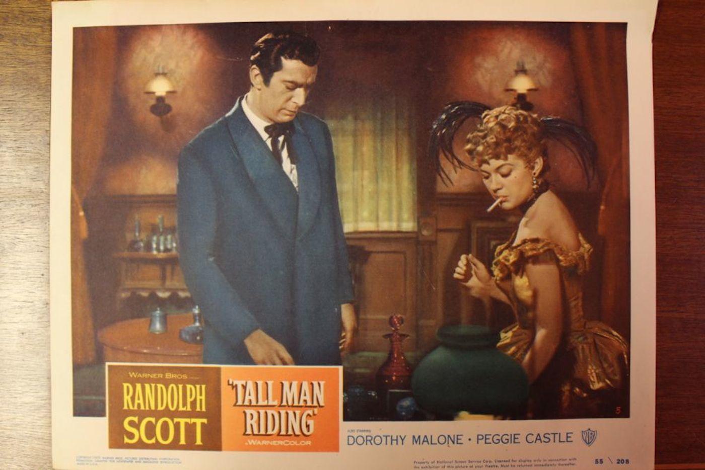 Tall Man Riding Movie Poster  3 Lobby Cards