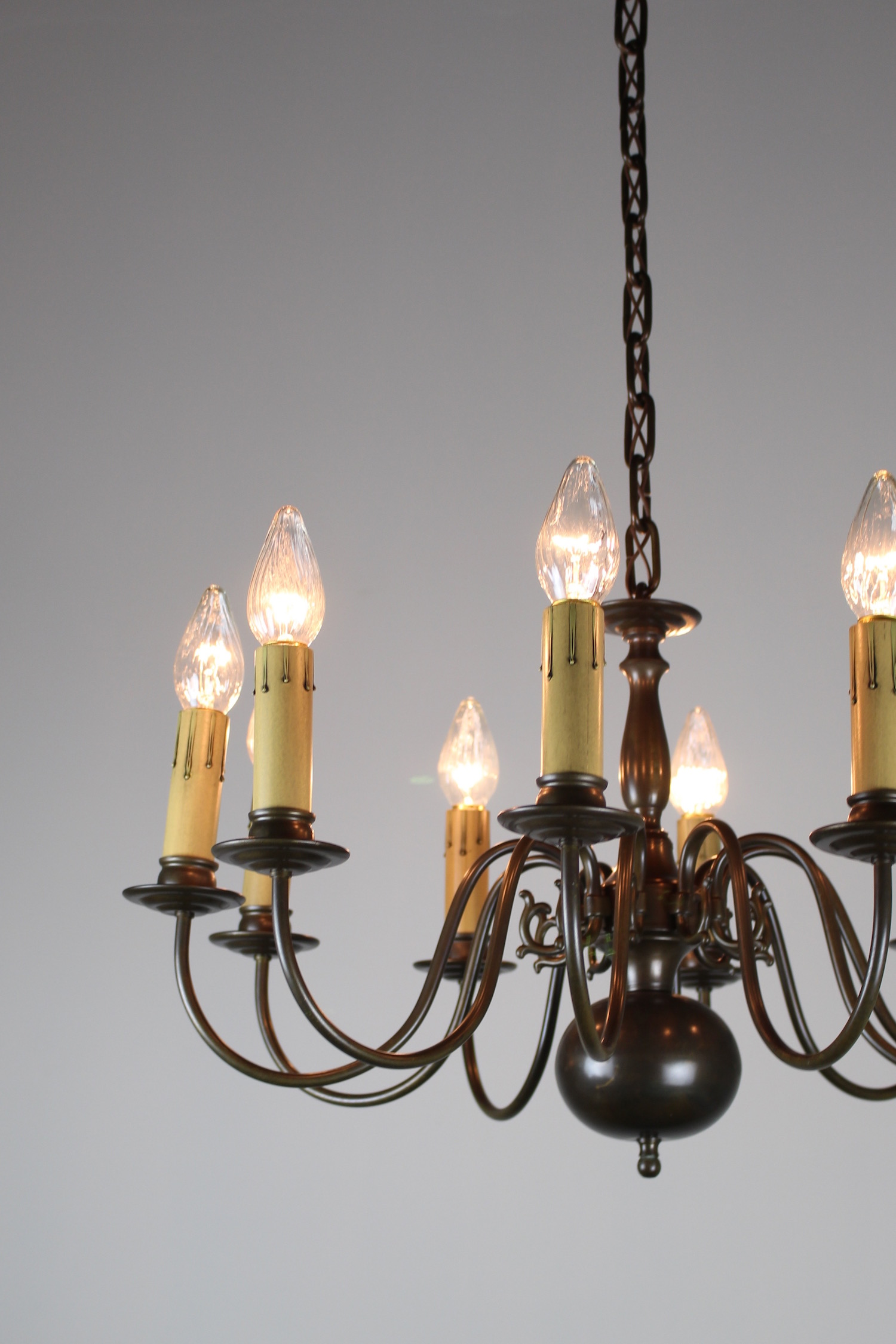Dutch Colonial Ten Light Fixture Circa 1940s Renew Gallery