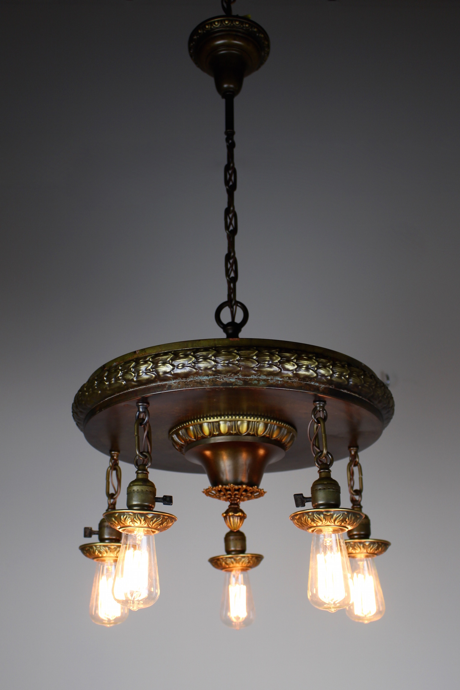 1920s FiveLight Neoclassical Revival Dining Room Fixture