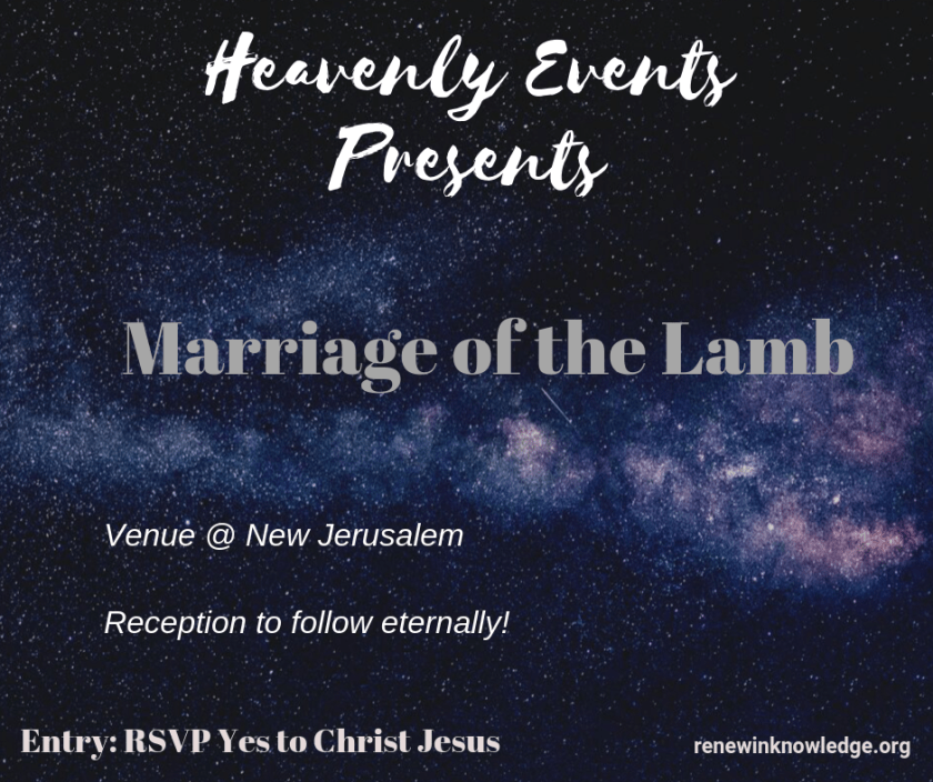 Marriage of the Lamb_Renew In Knowledge