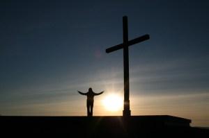cross, sunshine, sky