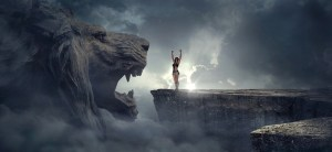 lion, woman, courage, fear, strength, overcome