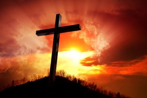 cross, sunset, sky, hill, God, Jesus, Lord