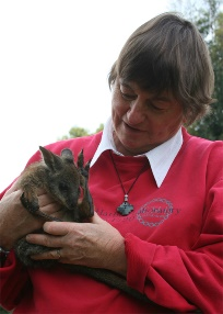 Prof MB Renfree and a furry pouch young.
