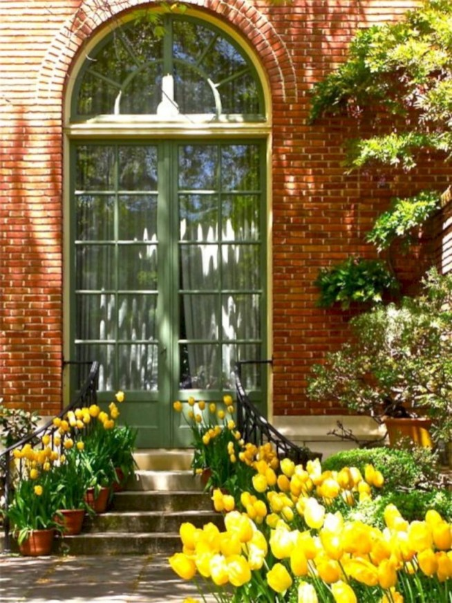 Arrangement Of A Neat Red Brick To Beautify The Exterior Of The House 23