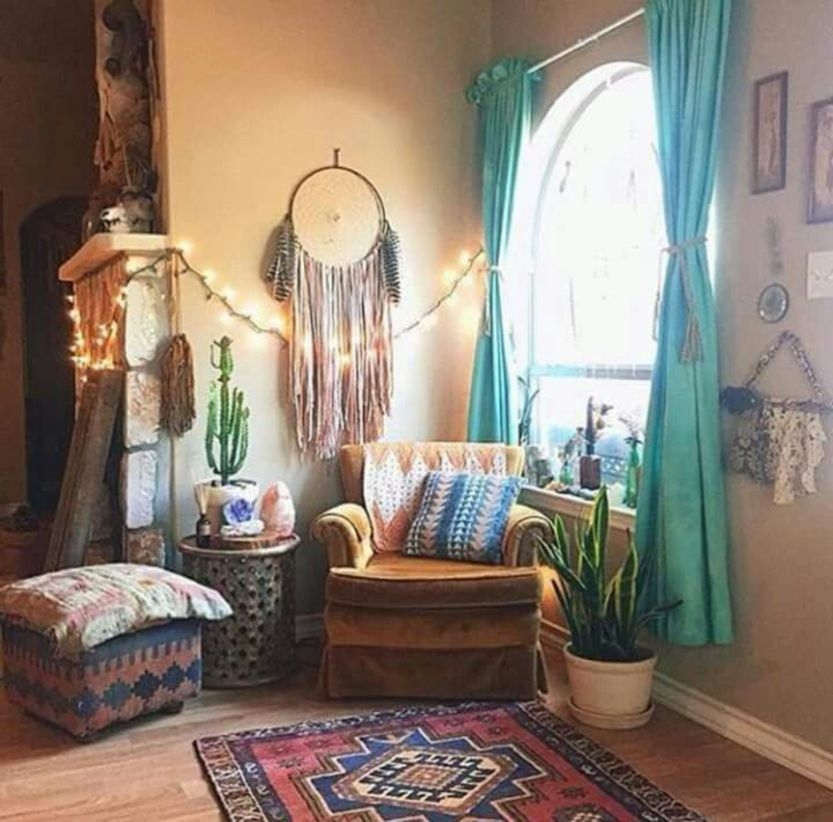 Bohemian Style Home Decor Ideas 33