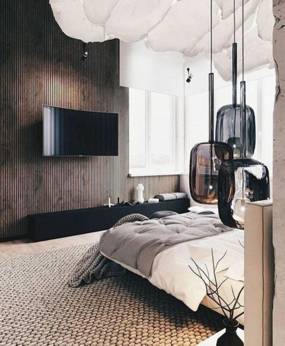 Cozy Bedroom Ideas For Your Tiny Apartment 38