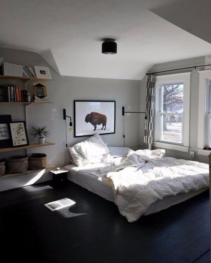 Cozy Bedroom Ideas For Your Tiny Apartment 44