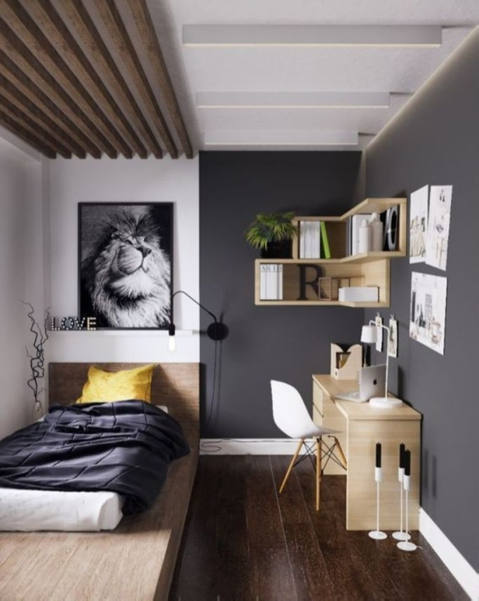 Cozy Bedroom Ideas For Your Tiny Apartment 46