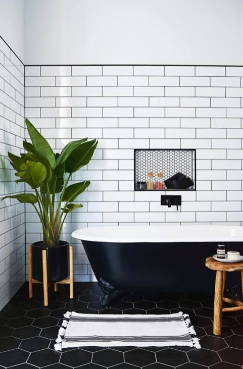 Lovely House Plants In The Bathroom03
