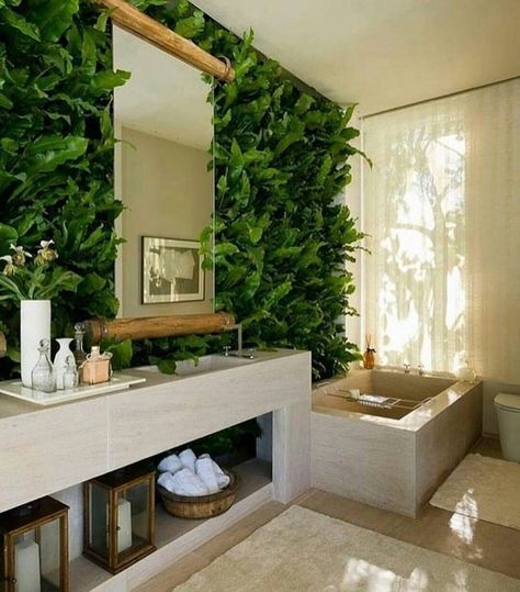 Lovely House Plants In The Bathroom08