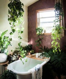 Lovely House Plants In The Bathroom13