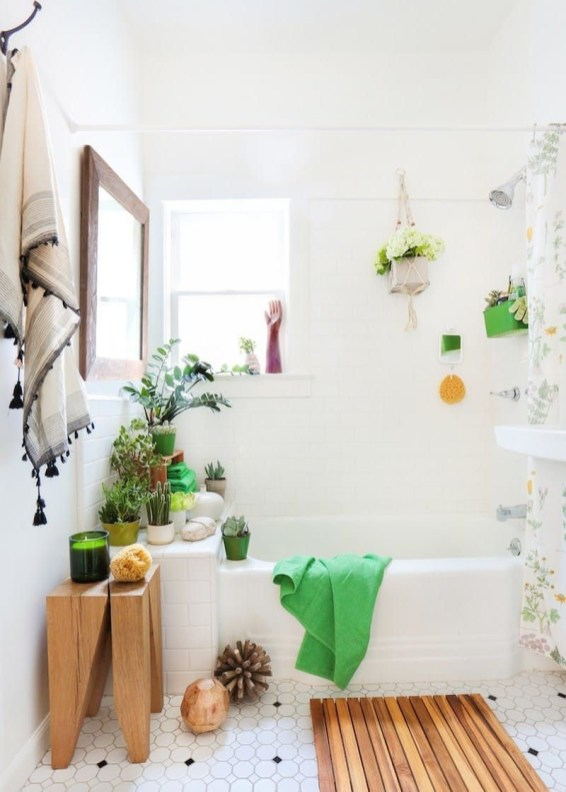 Lovely House Plants In The Bathroom24