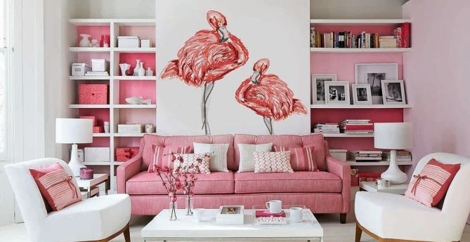 Pink And Gray Modern Living Room Decor 09