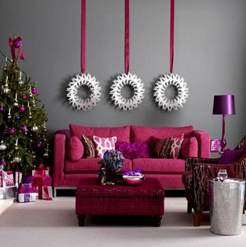 Pink And Gray Modern Living Room Decor 12