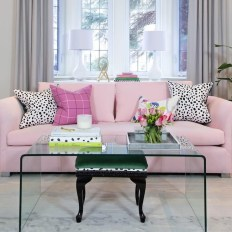 Pink And Gray Modern Living Room Decor 16