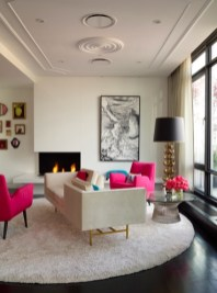 Pink And Gray Modern Living Room Decor 18