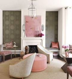 Pink And Gray Modern Living Room Decor 25
