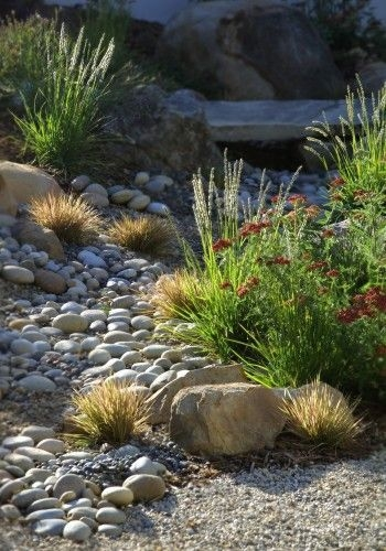 River Rock Landscape And Lavender Bush For Your Outdoor 05
