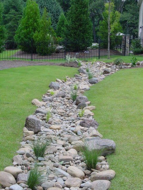 River Rock Landscape And Lavender Bush For Your Outdoor 08