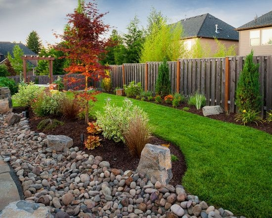 River Rock Landscape And Lavender Bush For Your Outdoor 17