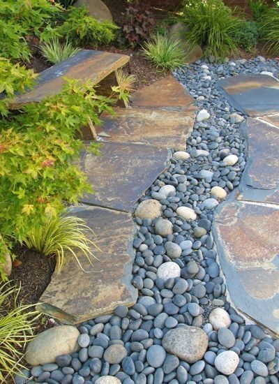 River Rock Landscape And Lavender Bush For Your Outdoor 19
