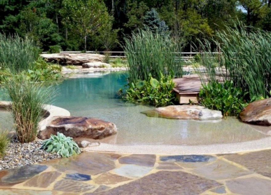 Style Swimming Pool With Natural Stone Tiles 06