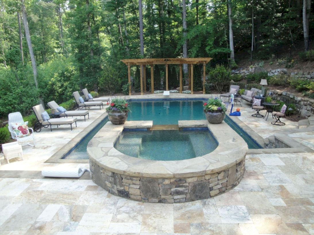 Style Swimming Pool With Natural Stone Tiles 09
