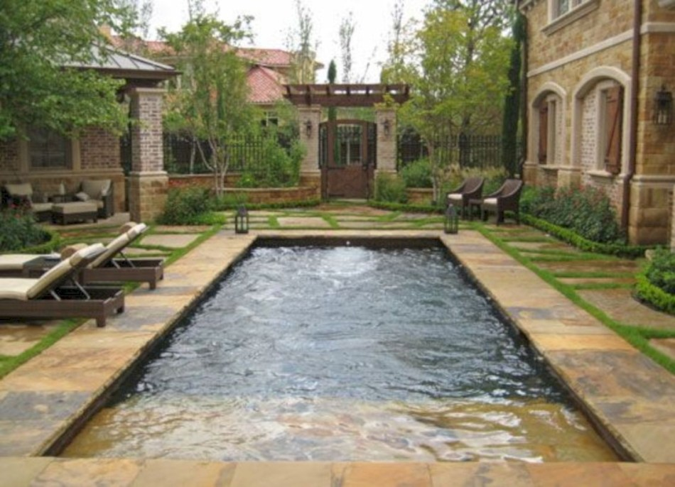 Style Swimming Pool With Natural Stone Tiles 13