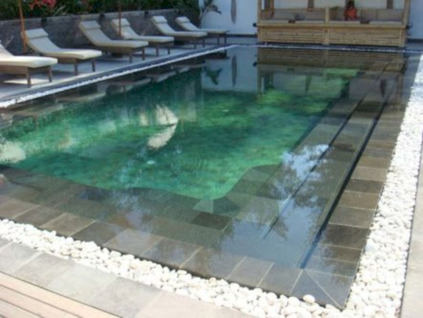 Style Swimming Pool With Natural Stone Tiles 24