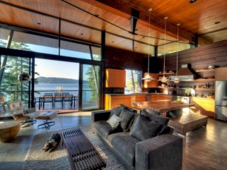 Modern Airy Home Design With Amazing Lake Views 21