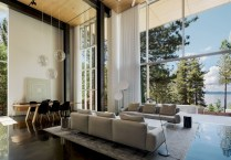 Modern Airy Home Design With Amazing Lake Views 22