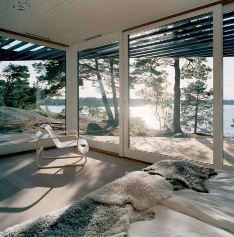 Modern Airy Home Design With Amazing Lake Views 28