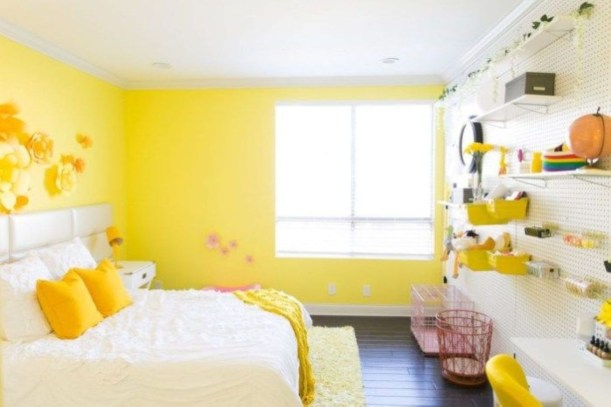 Yellow Bedroom For Your Child's Room Idea To Sleep Feels Warm 11