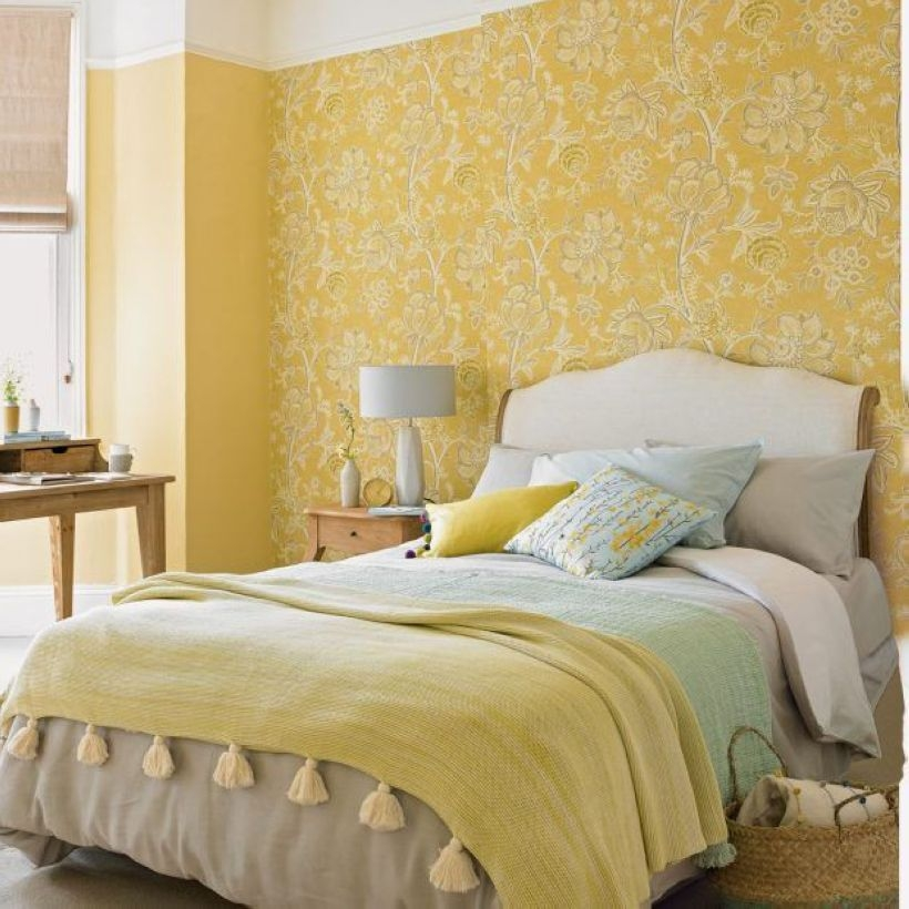 Yellow Bedroom For Your Child's Room Idea To Sleep Feels Warm 28