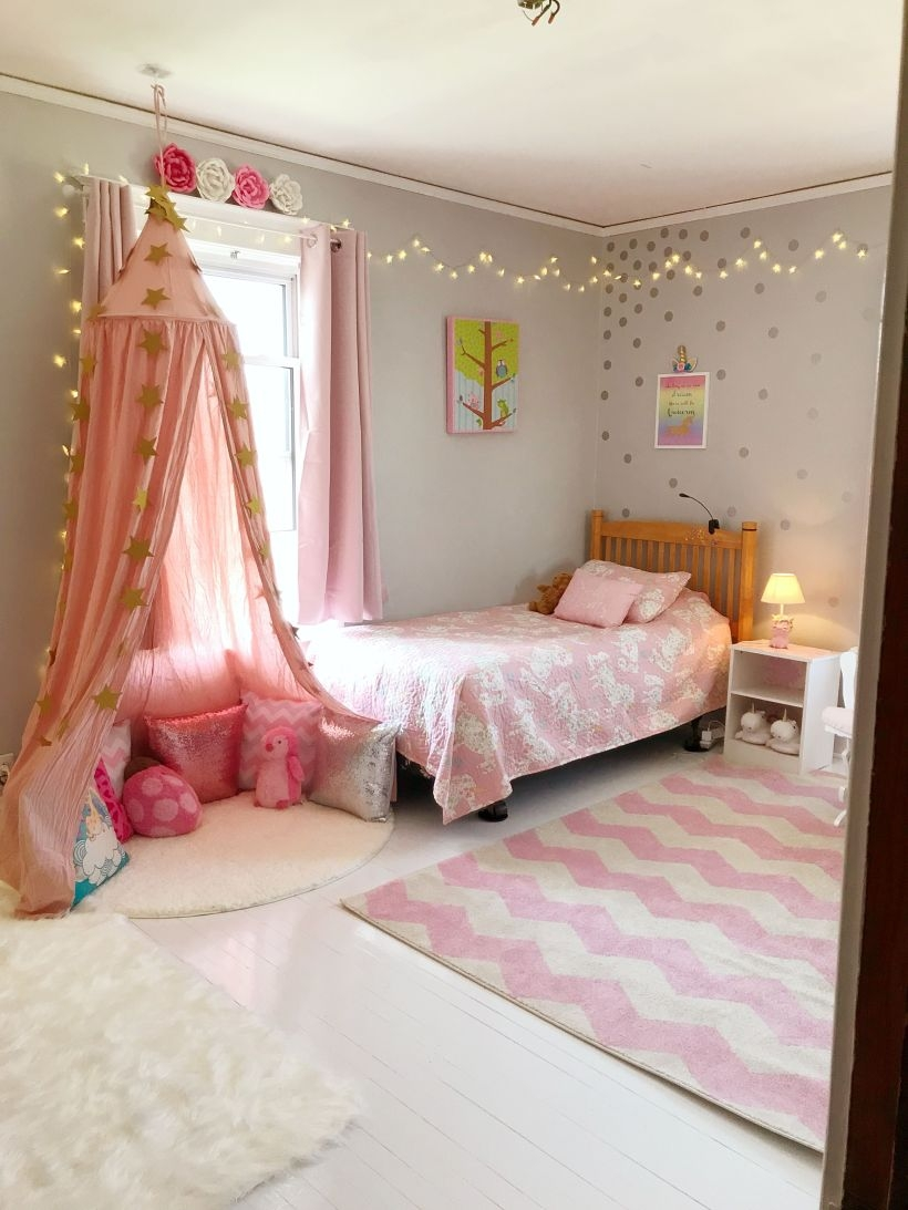 Cozy Teen Bedroom Decoration On Pink Style 10