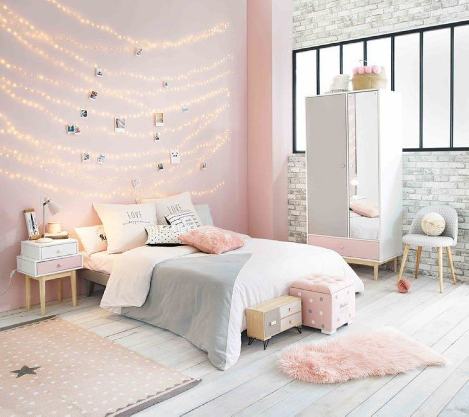 Cozy Teen Bedroom Decoration On Pink Style 22