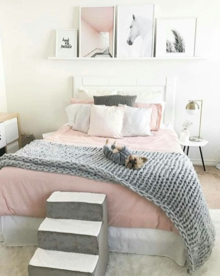 Cozy Teen Bedroom Decoration On Pink Style 27