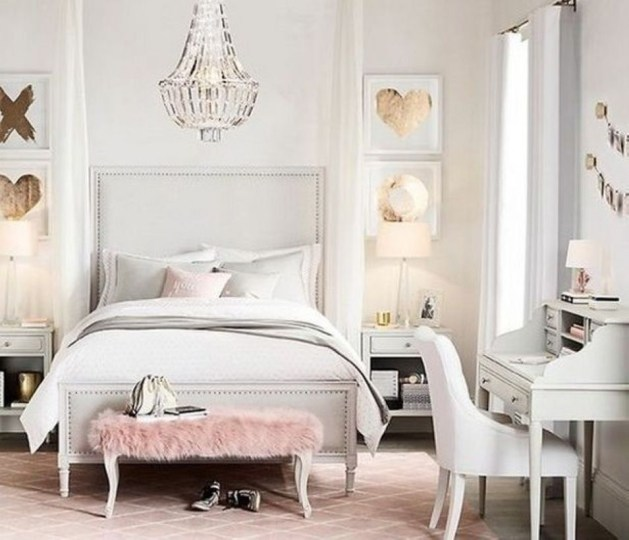 Cozy Teen Bedroom Decoration On Pink Style 28