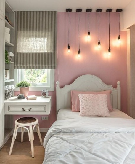 Cozy Teen Bedroom Decoration On Pink Style 40