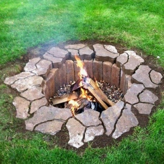 How To Make DIY Fire Pit In Garden With Low Budget 20
