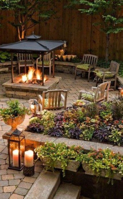 How To Make DIY Fire Pit In Garden With Low Budget 27