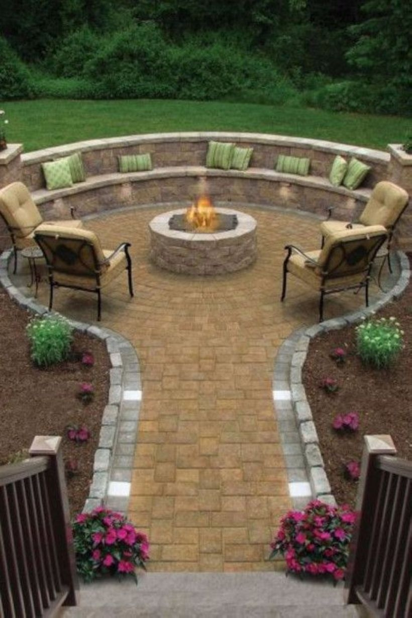 How To Make DIY Fire Pit In Garden With Low Budget 36