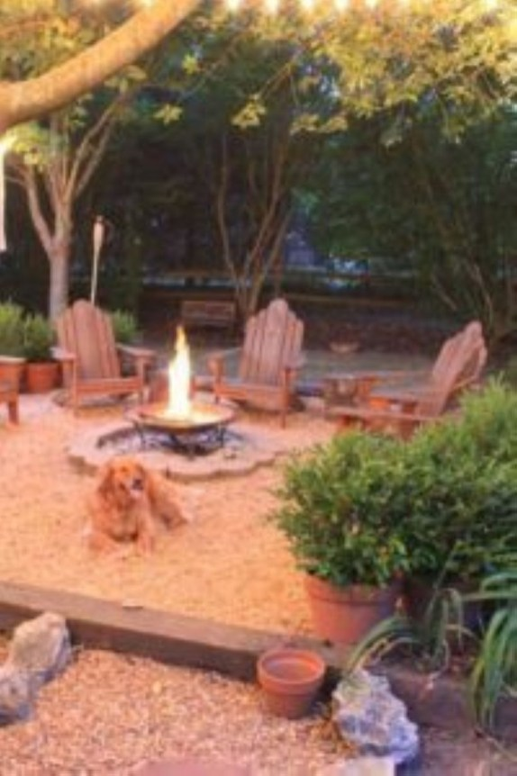 How To Make DIY Fire Pit In Garden With Low Budget 37