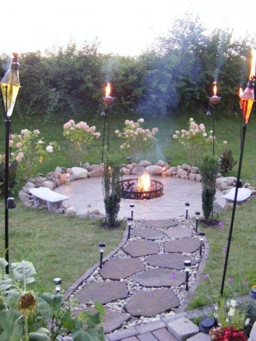 How To Make DIY Fire Pit In Garden With Low Budget 41