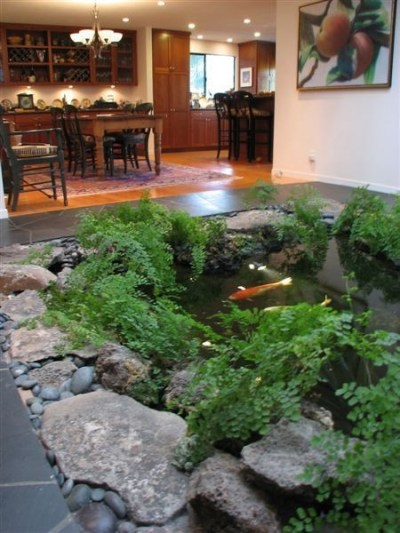 Amazing Indoor Fish Pond To Upgrade Your House 08