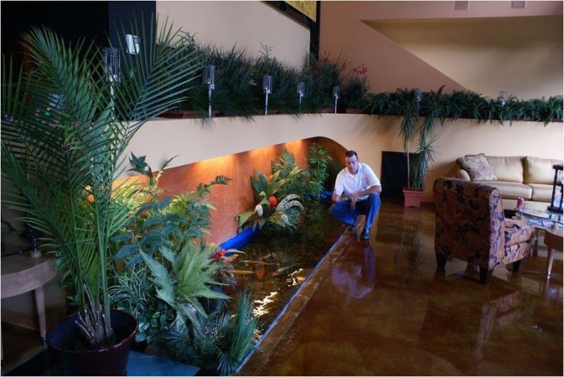 Amazing Indoor Fish Pond To Upgrade Your House 12