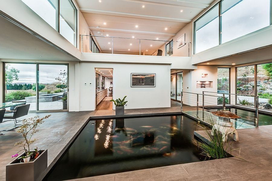 Amazing Indoor Fish Pond To Upgrade Your House 26